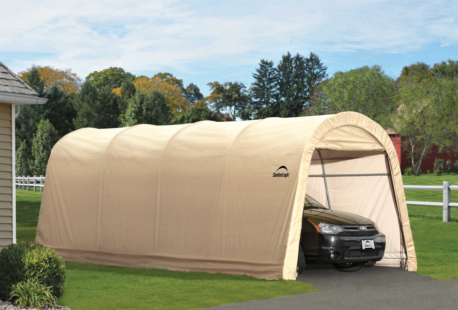 Carport kits portable car garage shelters for Mobile home garage kits