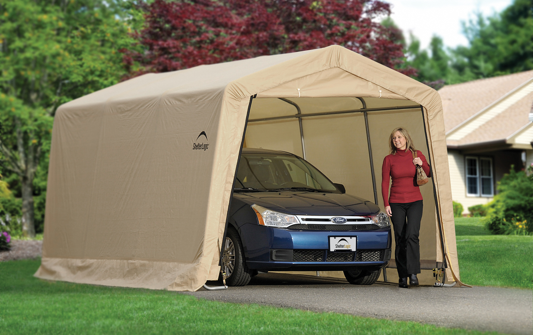 Car Canvas Shelters : Auto shelters portable garages