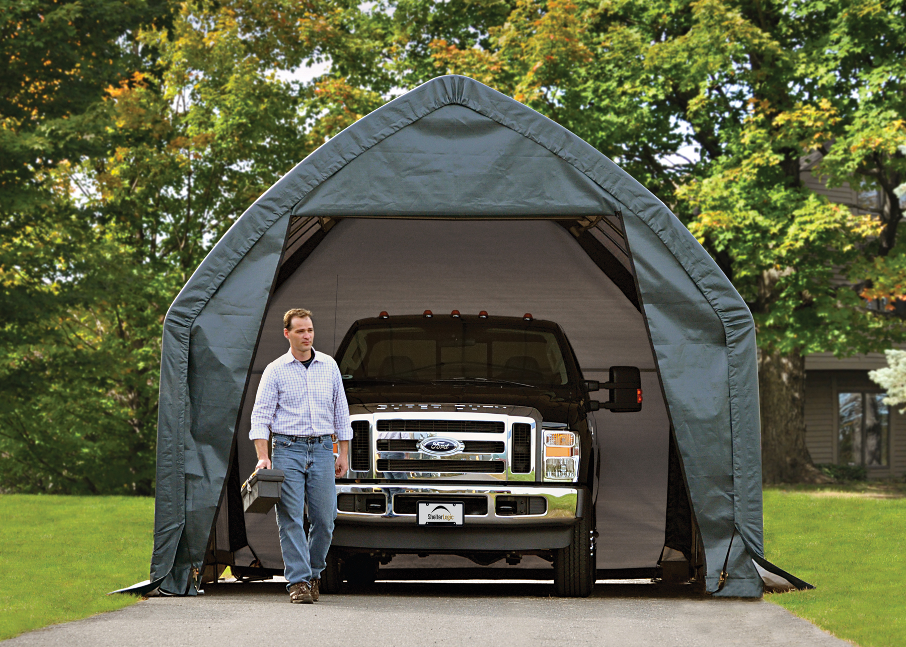 Vehicle Storage Shelter : Truck shelters portable car garage