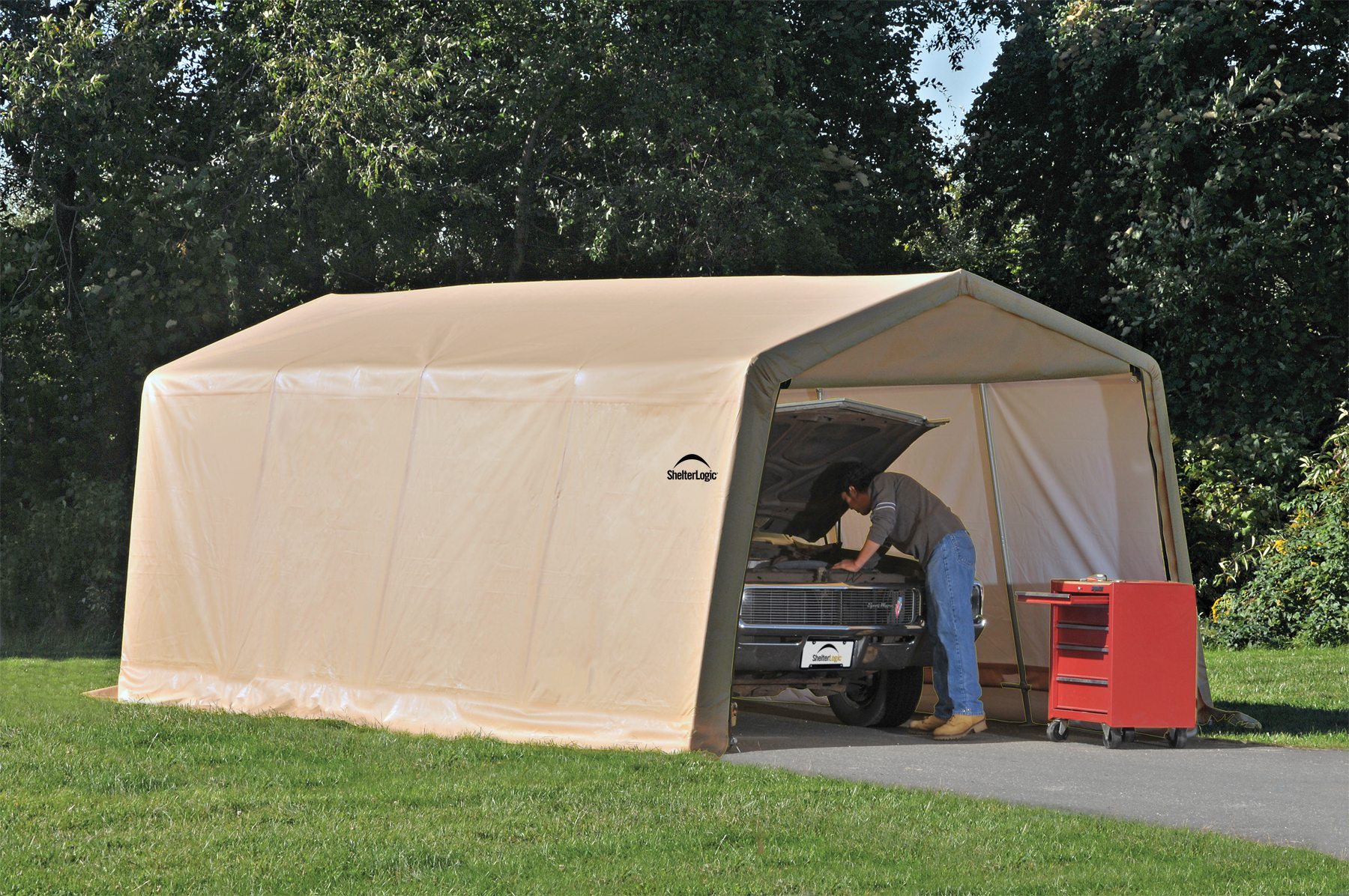 Portable car garage shelters the best portable carport for Mobile home garage kits