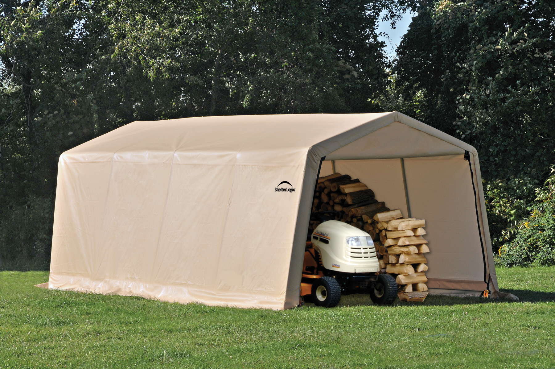 Car Garage Tent & Amazon.com ShelterLogic Peak Style ...