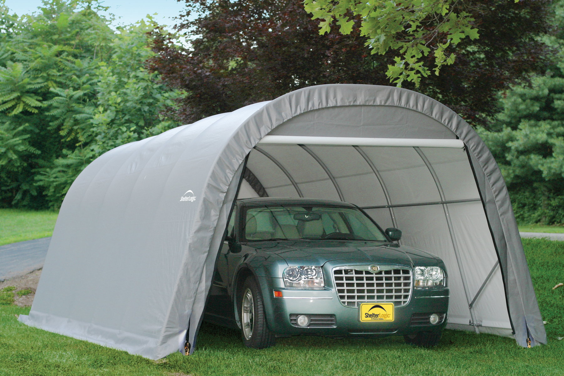 Metal Car Shelter : Portable garage shelter carport temporary