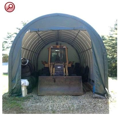 temporary fabric shelter